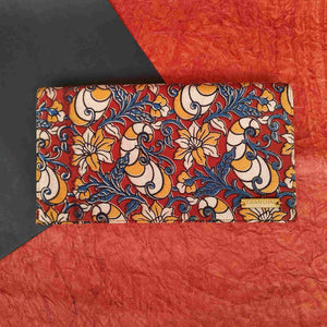 Kalamkari Red Clutch