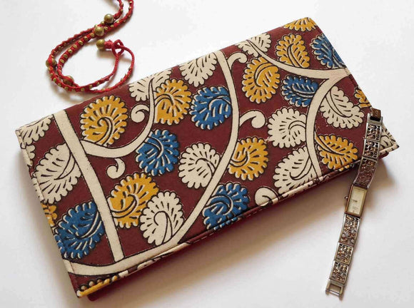 Muatard Flower Kalamkari Clutch