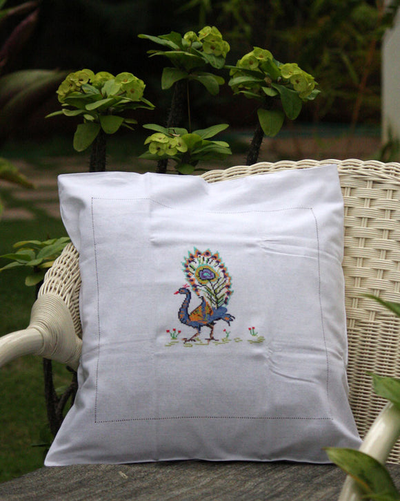 Cross Stitch Cushion Covers (Set of 2)