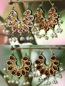 Gorgeous Two - sided rajwada earrings