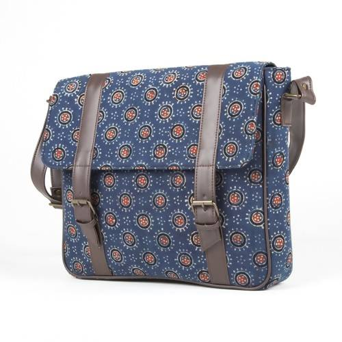 Blue Ajrakh Messenger Bag