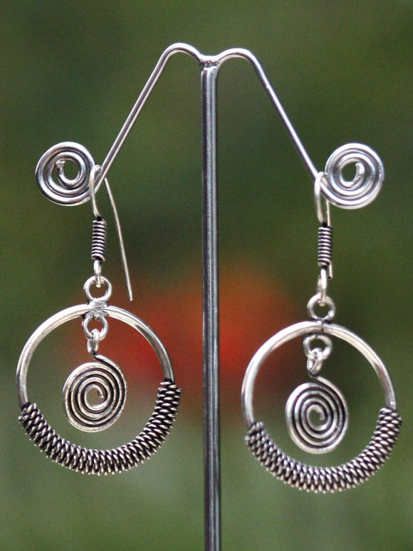 German Silver Fashion Earrings