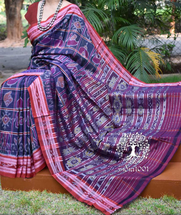 Elegant Handloom Nabakothi Cotton Saree ( without BP)