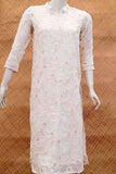 Georgette Kurta  with all over Embroidery