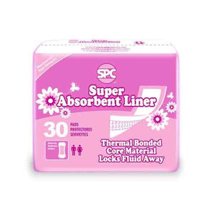 spc super absorbent incontinence panty liner 180 count