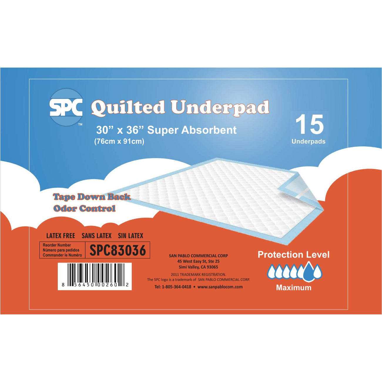 SPC Disposable Underpads 30 x 36 Super Absorbent (75 count)