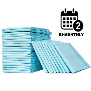 every 2 months disposable bed pads subscription