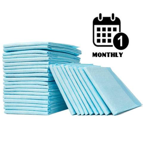 every month disposable bed pads subscription