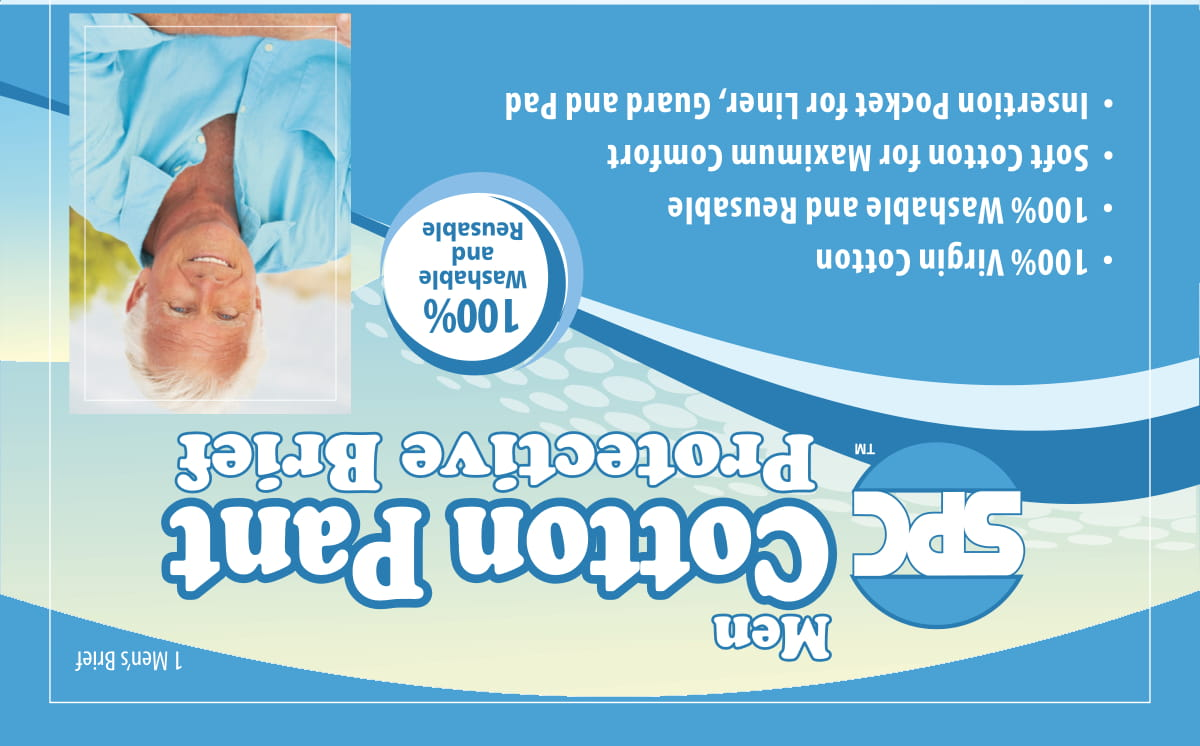 SPC reusable washable mens incontinence briefs