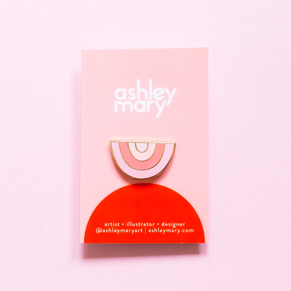 Ashley Mary Pink Rainbow Pin