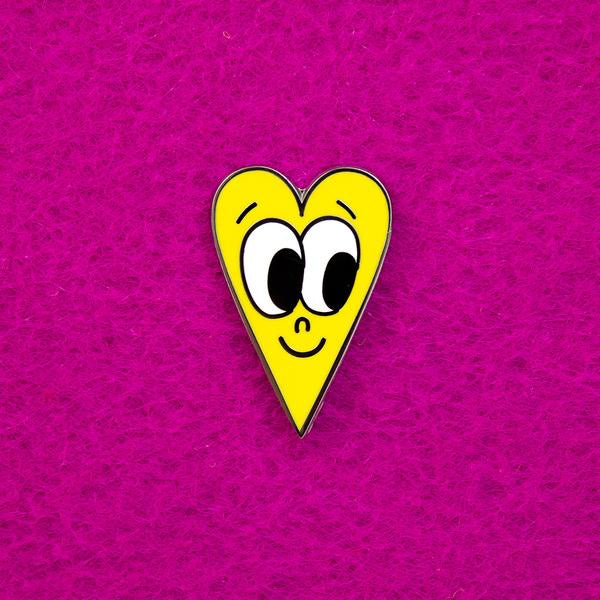 Beautiful Day Yellow Heart Pin