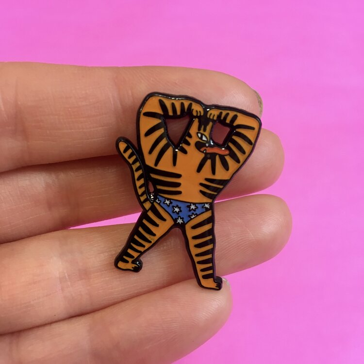 Egle Zvirbylte Hot and Spicy Tiger Pin