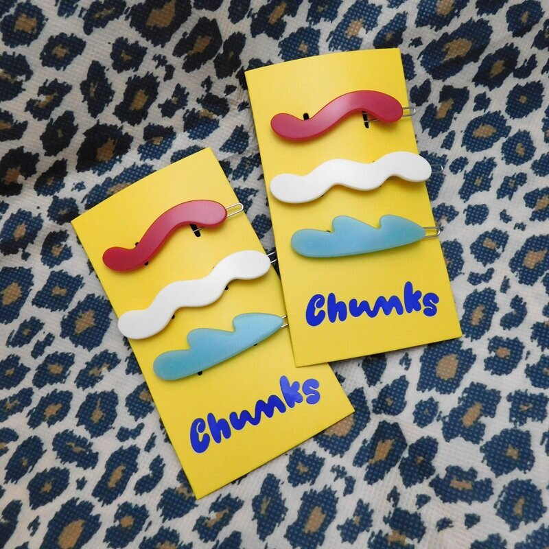 Chunks Mini Waves Barrettes (3 Pack)