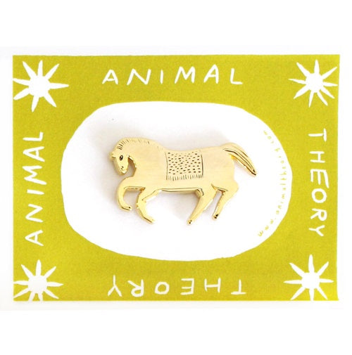 Animal Theory Pony Pin