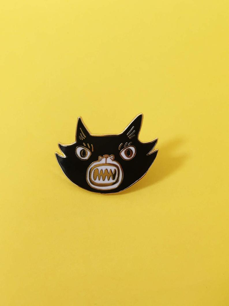 Kristina Micotti Black Cat Pin