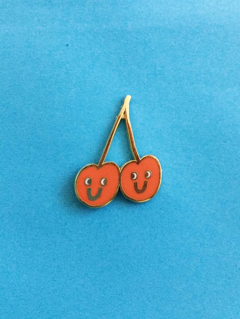 Kristina Micotti Twin Cherries Pin