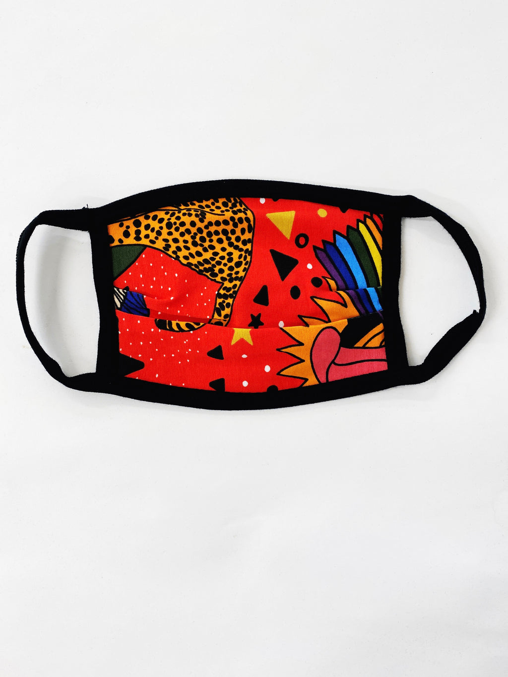 Over Ear Jersey Face Mask Pride Tiger