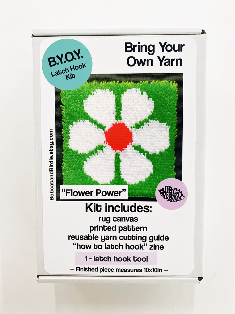 Flower Power B.Y.O.Y. Latch Hook Kit!