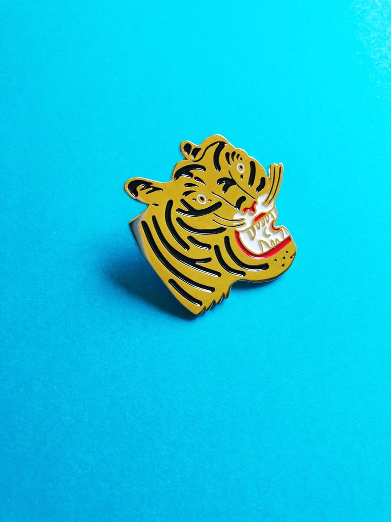 Kristina Micotti Tiger Head Pin
