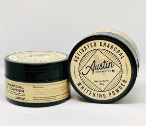 Natural Activated Charcoal Teeth Whitening Powder (fresh mint) - Austin Collective