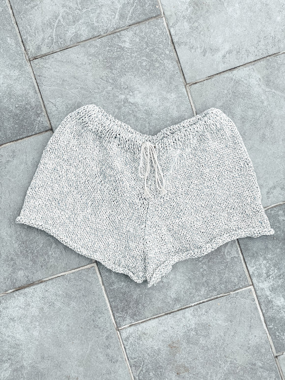 Recycled Denim Knit Shorts