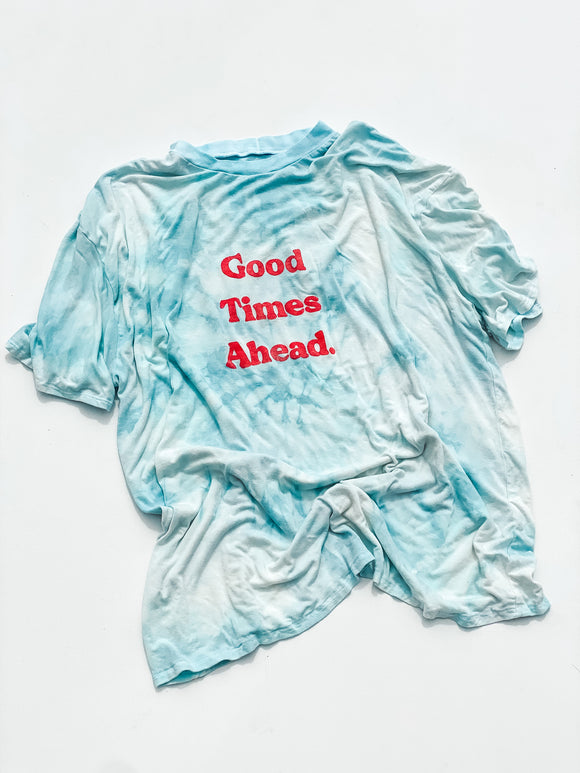 Good Times Ahead Tee in Blue