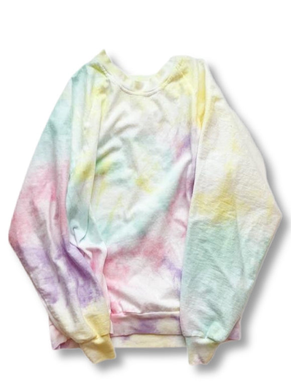 Rainbow Tie Dye Slouch Pullover