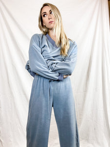 The Flare pants in Arctic  Blue