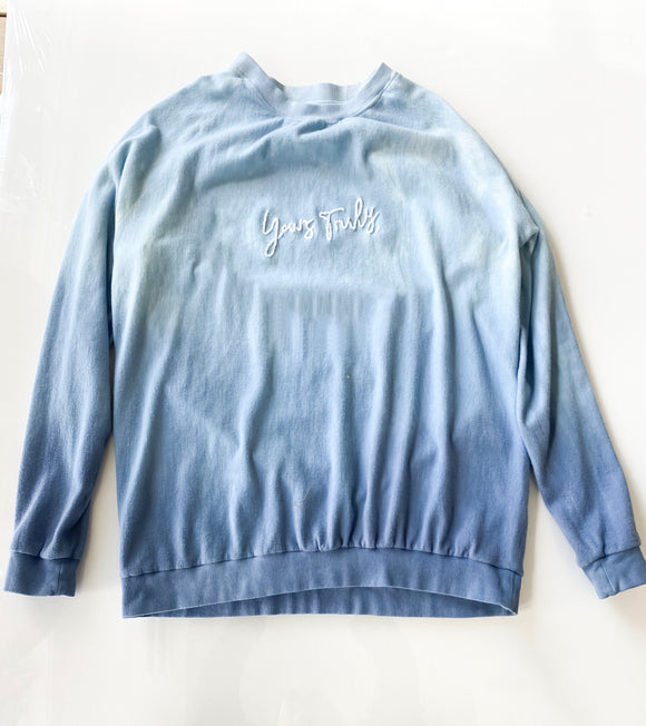 Yours Truly Blue Ombré Sweatshirt