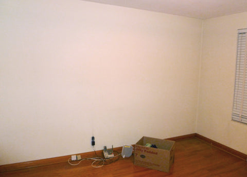Blank wall before decals