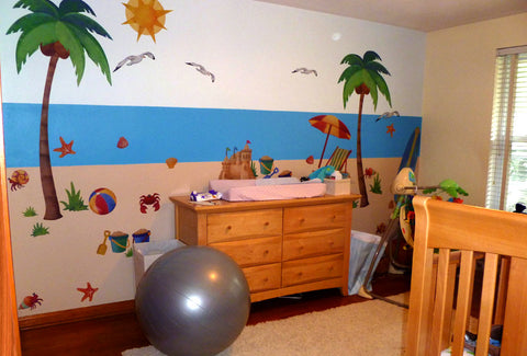 Beach Wall Decal Nursery Room