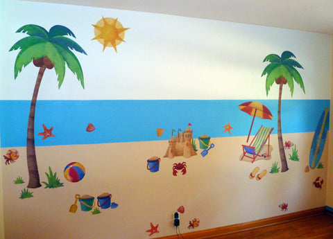 Final Beach Wall Stickers Mural