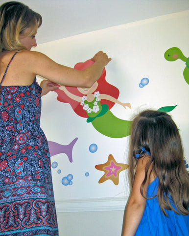 Kelly places Mermaid Wall Decal