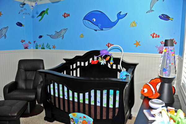Ocean Wall Decals in a Nursery