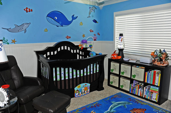 Ocean Wall Stickers in a Nursery