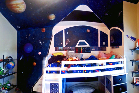 Outer space wall decals istickup for Outer space bedroom design