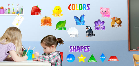 Shapes and Colors Classroom Wall Decals