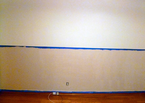 Blank wall before beach decals