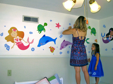 Mermaid Wall Decals Design
