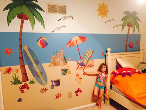 Creative use of Ocean or Beach Theme Wall Decals