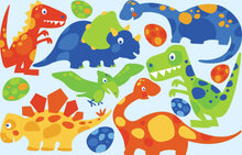 Load image into Gallery viewer, iStickUp Dino Friends Removable Fabric Wall Stickers