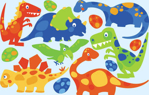iStickUp Dino Friends Removable Fabric Wall Stickers