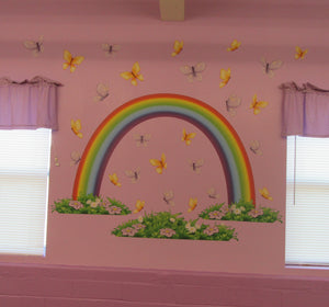 iStickUp Over the Rainbow Removable Fabric Wall Stickers