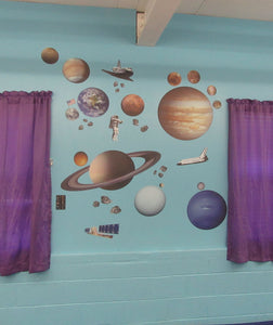 iStickUp Outer Space Removable Fabric Wall Stickers