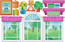 Load image into Gallery viewer, iStickUp Playhouse Pink Removable Fabric Wall Stickers