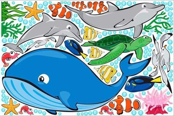 ocean life wall stickers print view