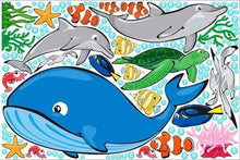 Load image into Gallery viewer, ocean life wall stickers print view