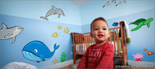 Load image into Gallery viewer, ocean life wall decals theme room - Turn your room into a wonderland of sea creatures!