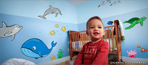 ocean life wall decals theme room - Turn your room into a wonderland of sea creatures!