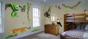 jungle exploration wall decals/stickers theme room